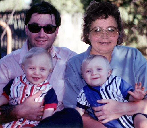 Ty, Brenda, Dylan and Ethan in 1997